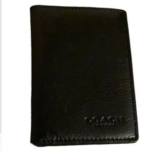 Coach Black Leather Cardholder